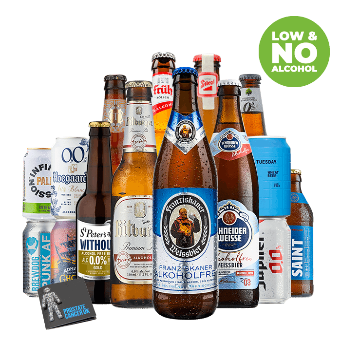Prostate Cancer UK Low and No Alcohol Beer Mixed Case 2020