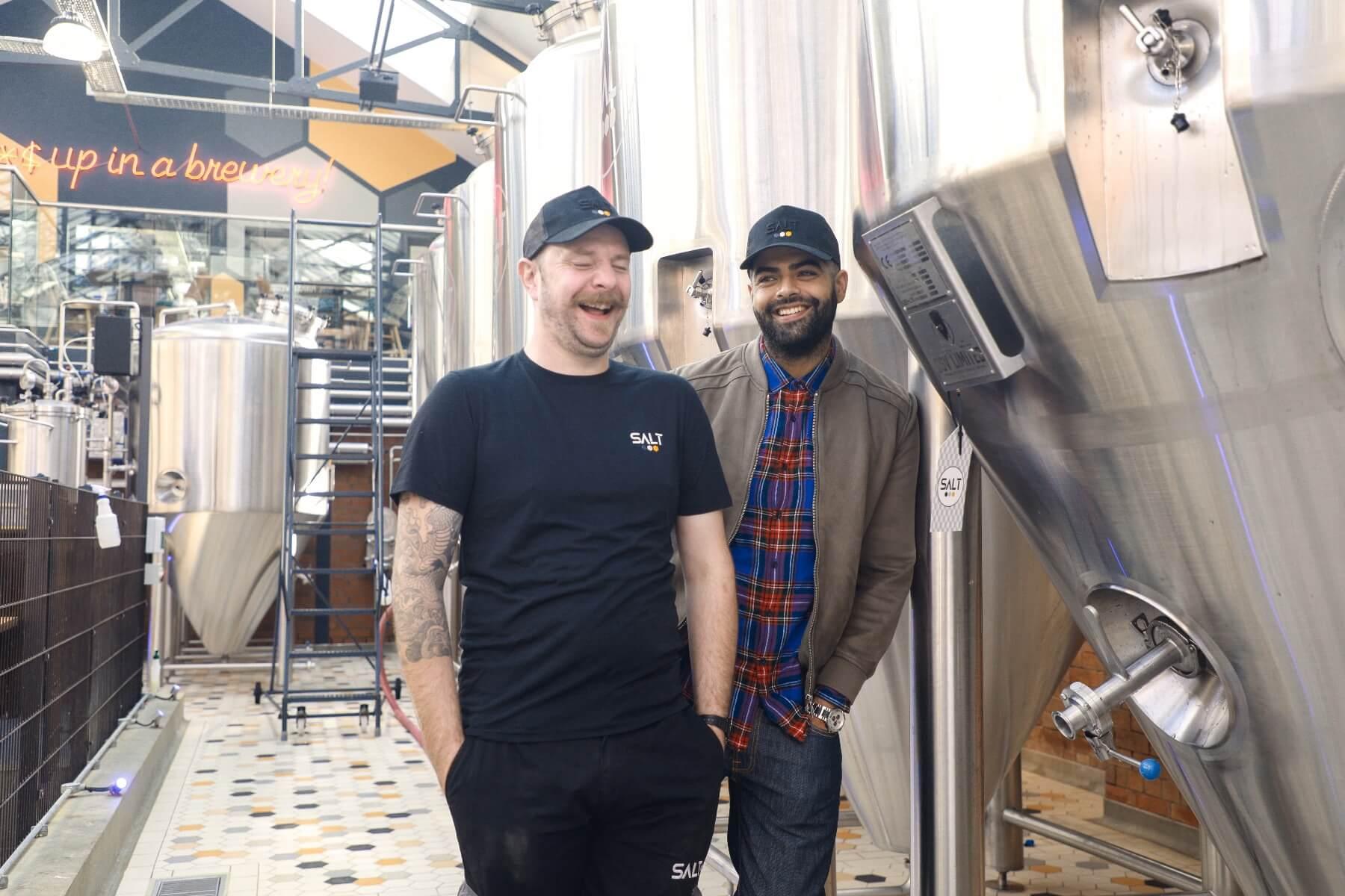 Salt brewery happy staff
