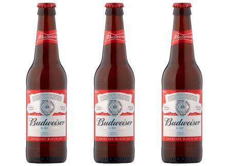 3 Budwesier American Pilsner Beer Bottles