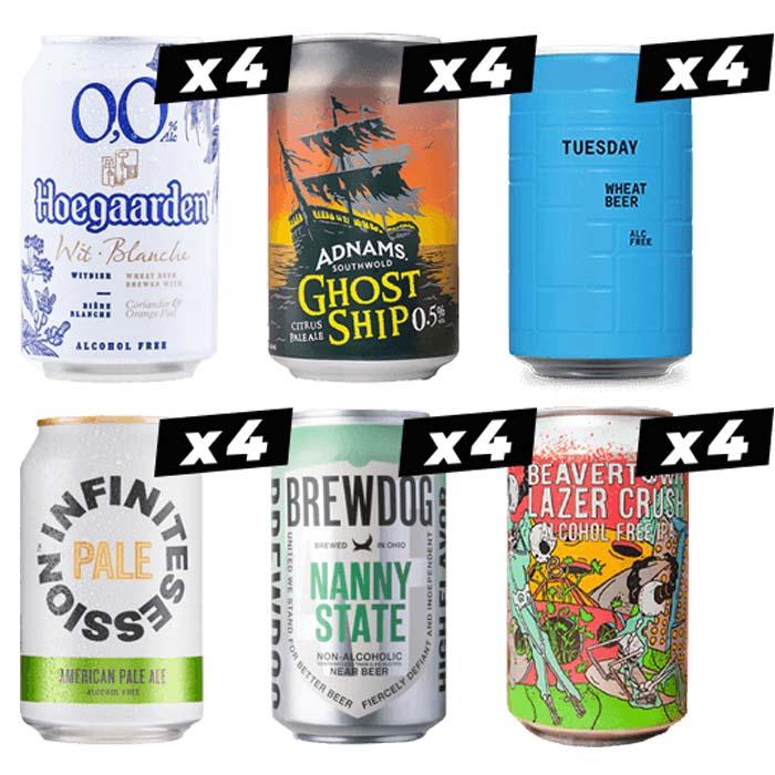 Low & No Alcohol Beer Mega Pack (24 Beers)