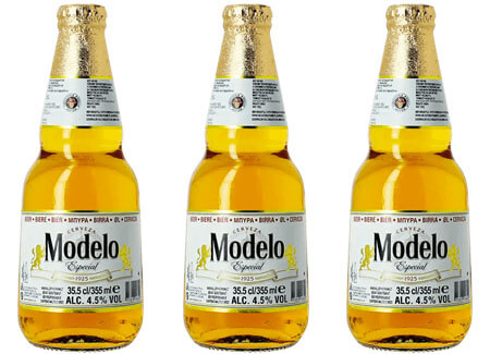 3 Modelo Mexican Pilsner Beer Bottles